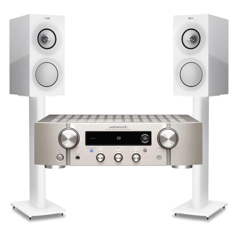 Marantz PM7000N Streaming Amplifier with KEF R3 Speakers