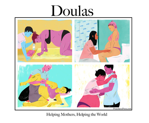 Free poster, Doulas help the world