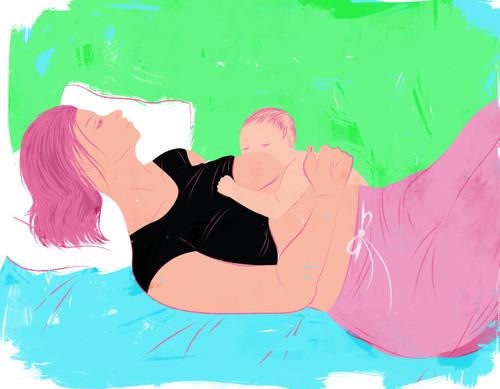 Laid back breastfeeding