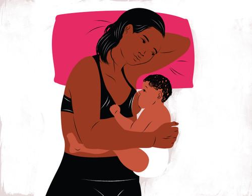 Side lying breastfeeding