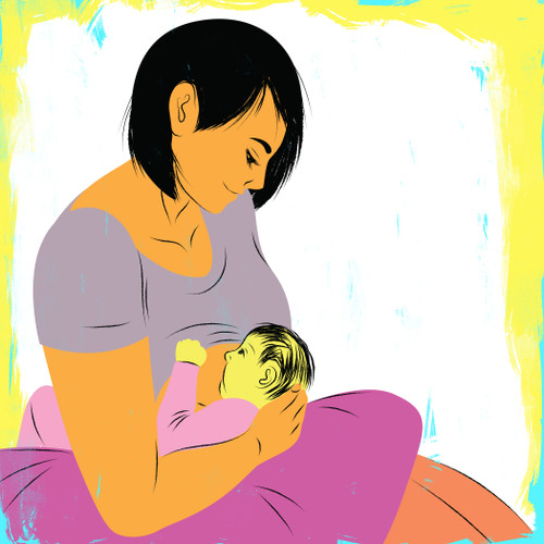 Breastfeeding with the football hold