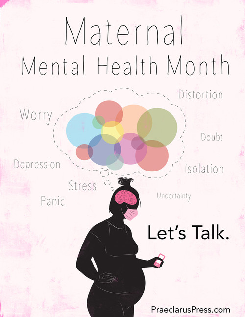 Free downloadable poster-Maternal Mental Health Month 2020