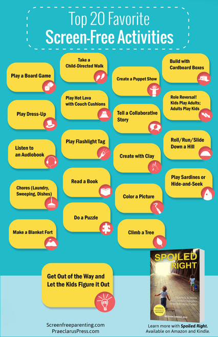 Infographic-Top 20 Favorite Screen-Free Activities