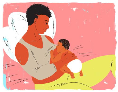 Breastfeeding layback position