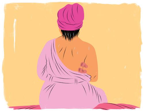 Breastfeeding after shower