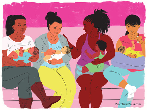 Free downloadable poster-Group of mothers