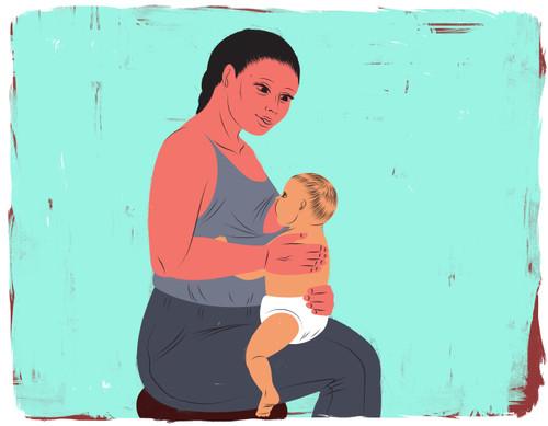 Australian/koala hold, breastfeeding