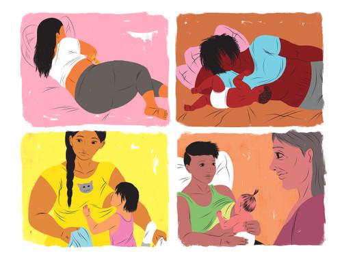 Breastfeeding illustration bundle-November 2021