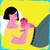 Laid  back breastfeeding illustration bundle