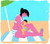 Breastfeeding mother on the beach