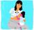 Amputee mother breastfeeding child on lap