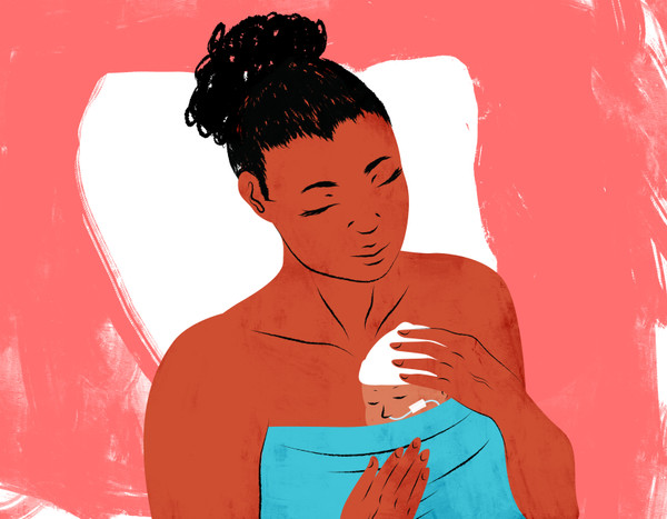 Mother and premature baby skin-to-skin