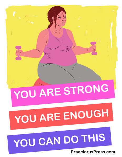 Free downloadable poster-You are enough