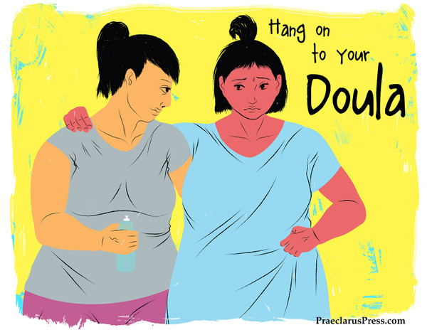 Free downloadable poster-Hang on to your Doula