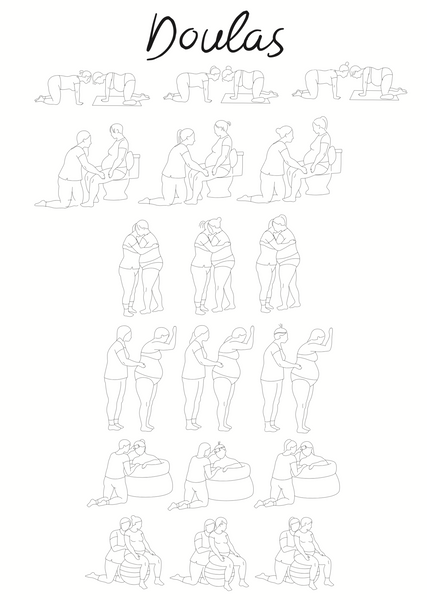 Doula line art bundle-18 images