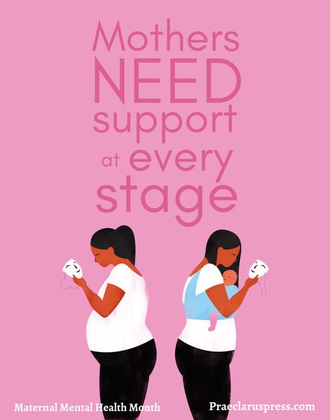 Free downloadable poster- Maternal Mental Health 2021