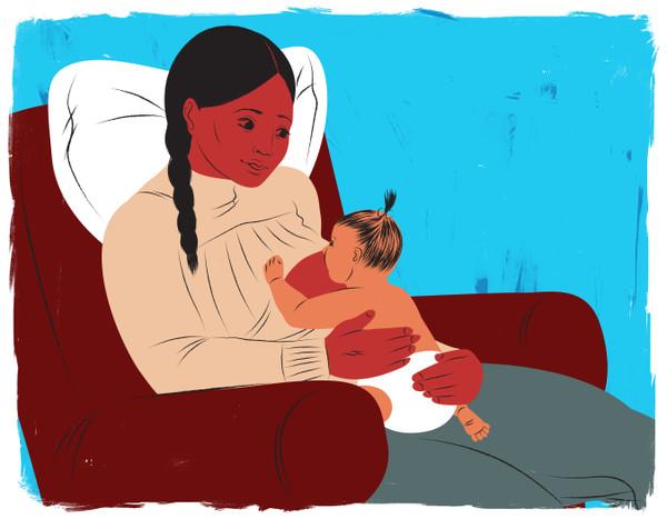 Breastfeeding in recliner
