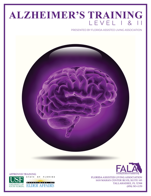 4 Hour Alzheimer's Training Level I or Level II (Both are available)