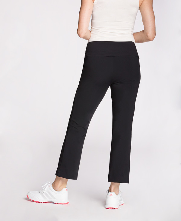 Smooth Your Waist Golf Crop Pant - Black