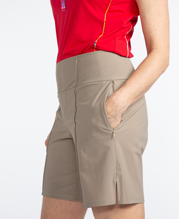 Tailored and Trim Golf Short -Sand