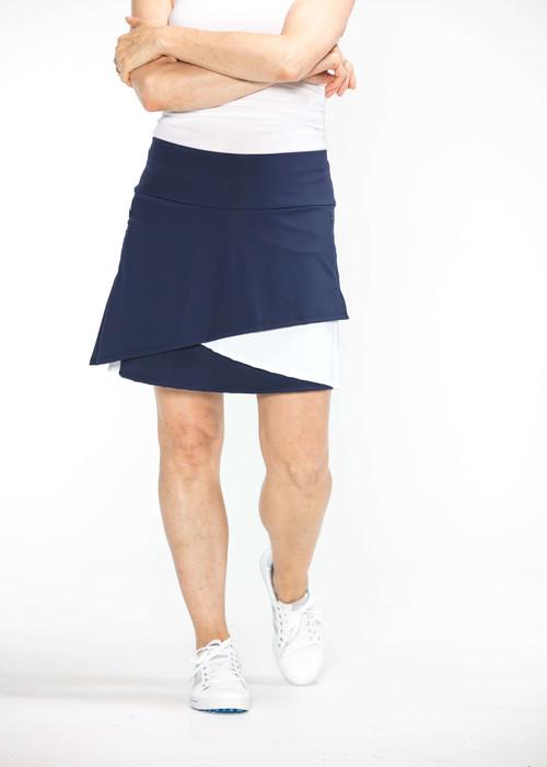 Wrap It Up Golf Skort - Navy