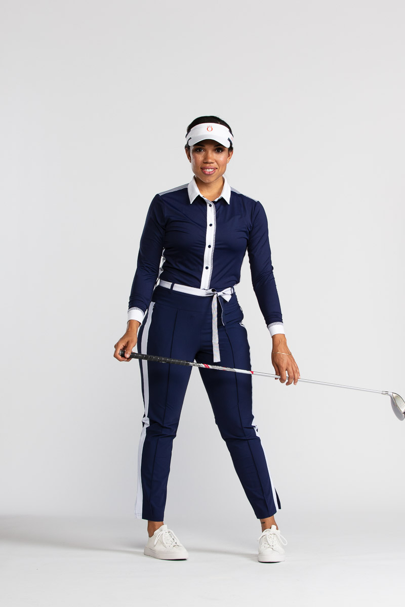 Tuck it in Golf Trouser Pant - Navy Blue