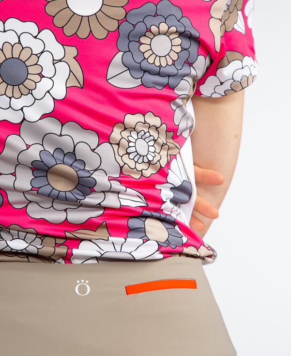 Cap It Off Shortsleeve Golf Shirt - Flower Power