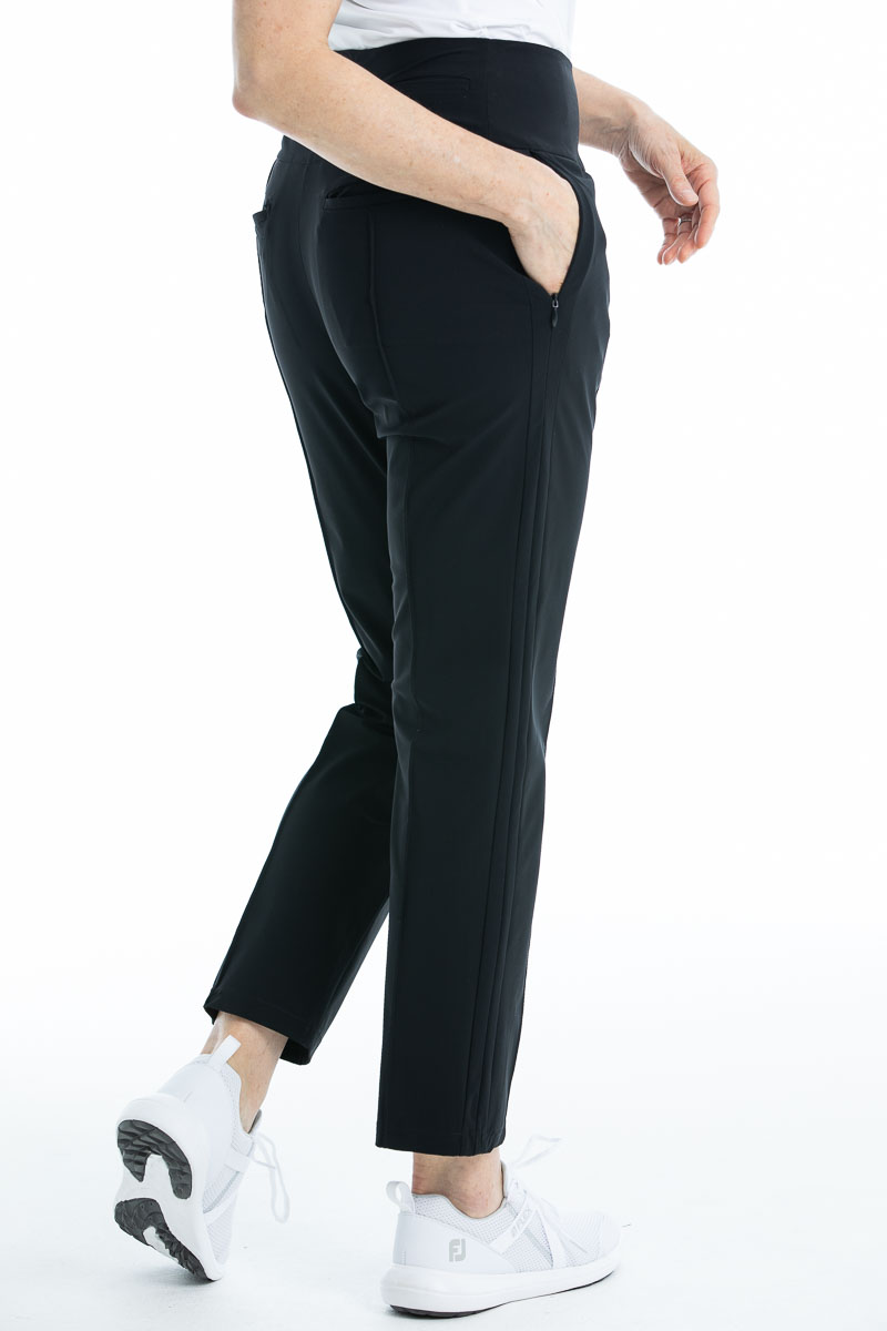 women's black golf pant with pockets