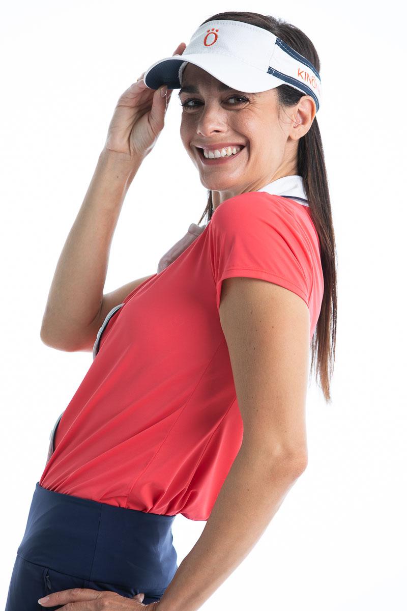 Class Act Shortsleeve Golf Shirt - Watermelon Red