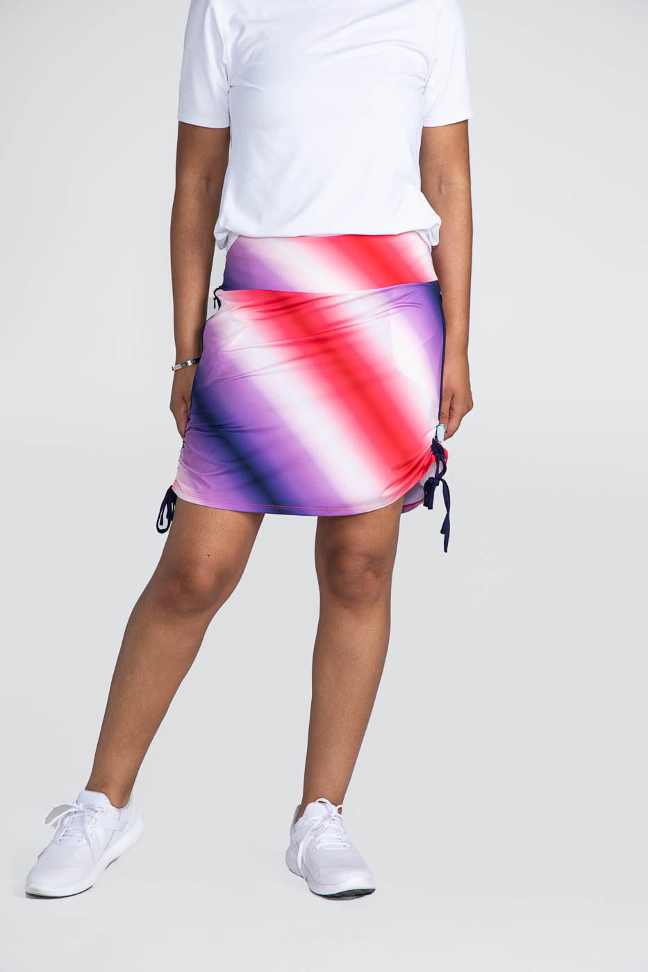 Rouched and Ready Golf Skort - Ombre Print