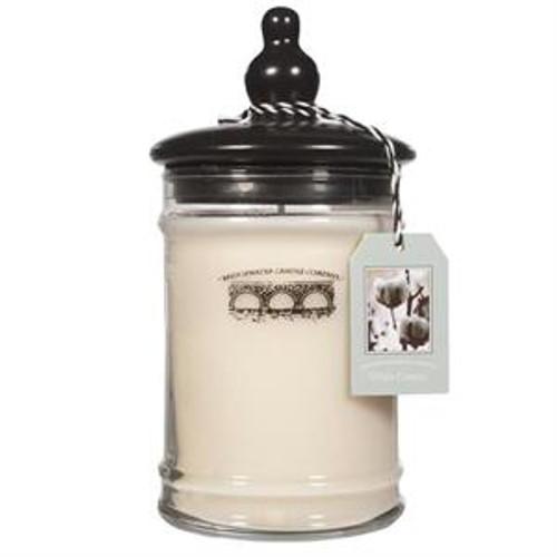 Bridgewater Candle Company White Cotton Large Glass Jar Candle