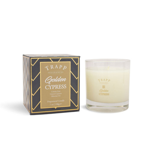 Trapp Fragrances Seasonal Collection Golden Cypress Large Candle