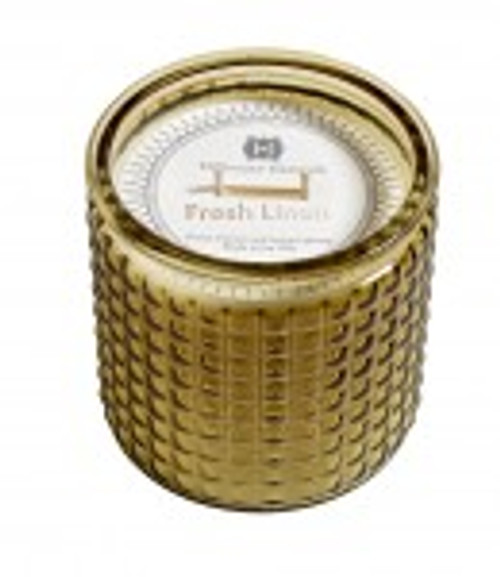 Hillhouse Naturals Fresh Linen 2 Wick Glass Candle
