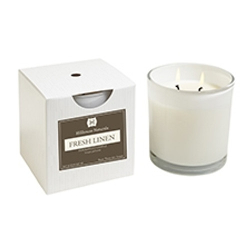 Hillhouse Naturals Fresh Linen 2 Wick Glass Boxed Candle