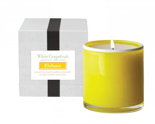 LAFCO White Grapefruit/Cabana House & Home Glass Candle