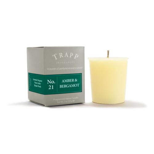 No. 21 Trapp Candle Amber & Bergamot - 2oz. Votive Candle
