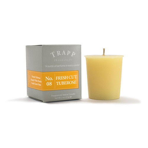 No. 8 Trapp Candle Fresh Cut Tuberose - 2oz. Votive Candle