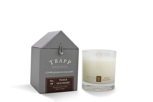 No. 68 Trapp Candle Teak & Oud Wood - 7oz. Poured Candle