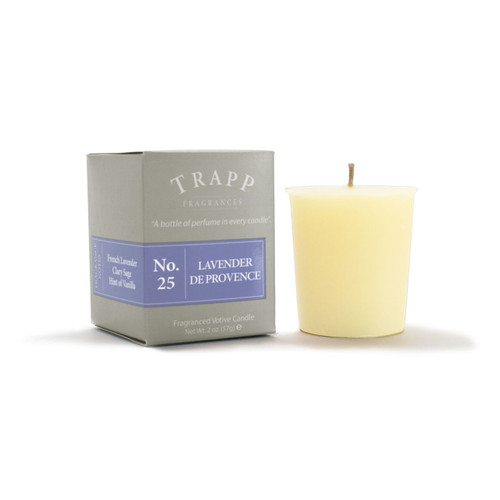 No. 25 Trapp Candle Lavender de Provence - 2oz. Votive Candle