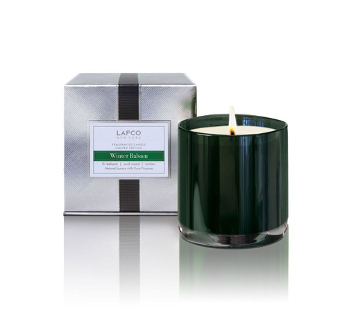 LAFCO Holiday Collection Winter Balsam Limited Edition Glass Candle