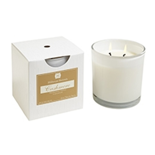 Hillhouse Naturals Cashmere 2 Wick Glass Boxed Candle