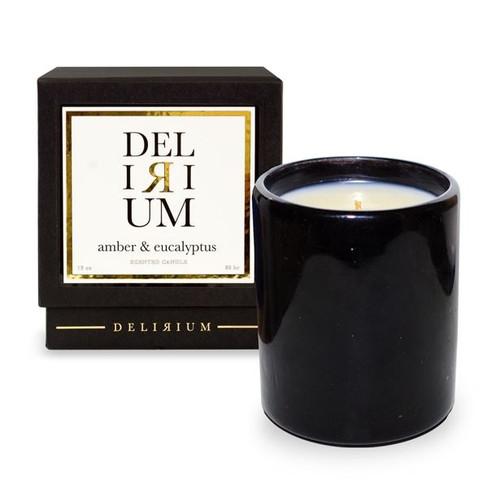 Delirium - Amber & Eucalyptus 13 oz Candle