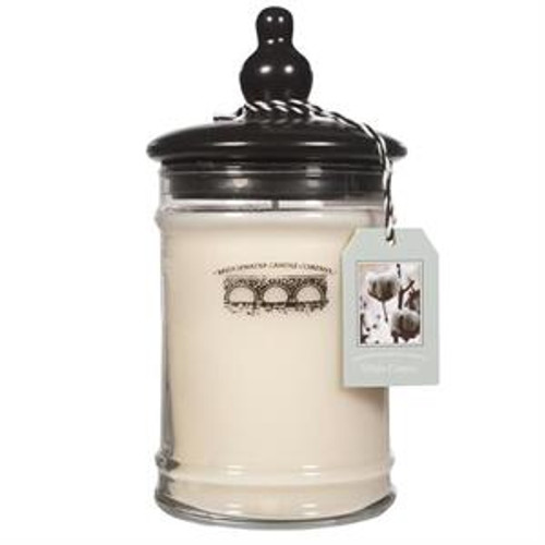 Bridgewater Candle Company White Cotton Large Glass Jar Candle