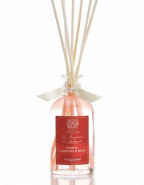 Antica Farmacista Peonia, Gardenia & Rosa Home Ambience Reed Diffuser - 100 ml.