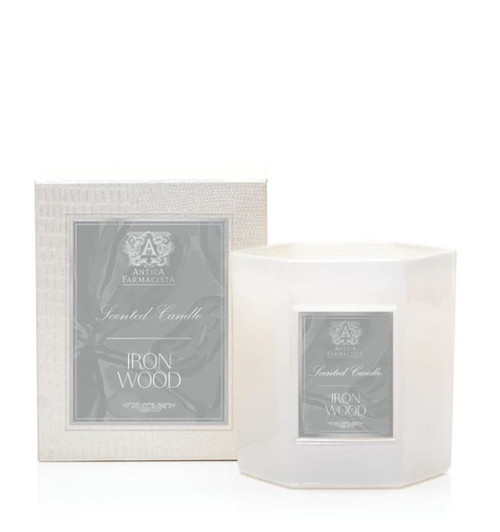 Antica Farmacista Ironwood Round Glass Candle 9oz