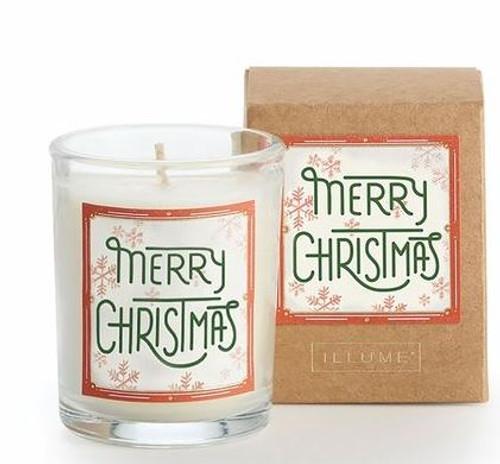 Illume Merry Christmas Glad Tidings Votive