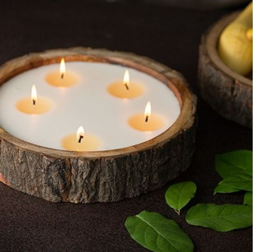Himalayan Trading Post Tree Natural Finish Tree Bark Candle Grapefruit Pine 76oz