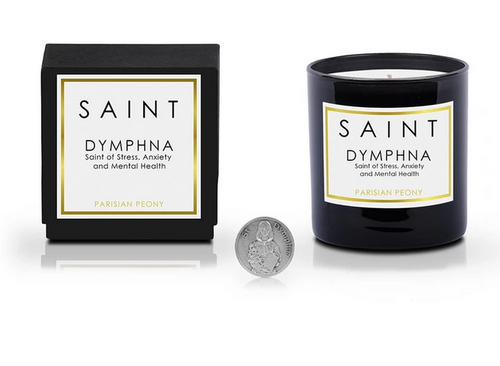 Saint Candles - Saint Dymphna • Saint of Stress, Anxiety and Mental Health