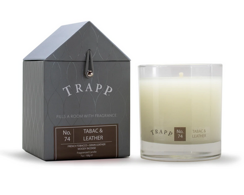 No. 74 Trapp Candles Tabac and Leather  - 7oz. Poured Candle