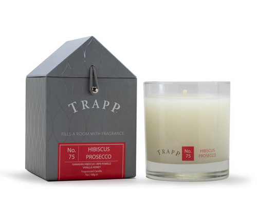 No. 75 Trapp Candles Hibiscus Prosecco  - 7oz. Poured Candle
